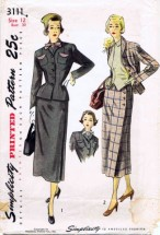 Simplicity 3111 Vintage Sewing Pattern Womens Two Piece Suit Gilet Size 12 Bust 30