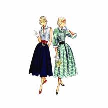 1950s Blouse Skirt Cummerbund Simplicity 3144 Vintage Sewing Pattern Size 13 Bust 31