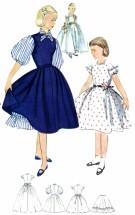 Simplicity 3810 Girls Dress Petticoat Vintage Sewing Pattern Size 10