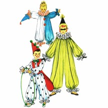Childs Clown Costume 1950s Simplicity 4864 Vintage Sewing Pattern Breast 24 - 26