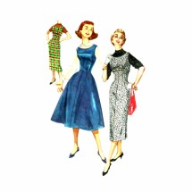 1950s Teens Jumper with Two Skirts Simplicity 1734 Vintage Sewing Pattern Size 12 Bust 32