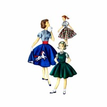 1950s Girls Jumper Blouse Skirt Simplicity 1741 Vintage Sewing Pattern Size 14