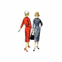 1950s Misses Jacket Skirt Suit Simplicity 1954 Vintage Sewing Pattern Size 11 Bust 31 1/2