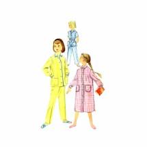 1950s Girls Pajamas Nightshirt Simplicity 2253 Vintage Sewing Pattern Size 8
