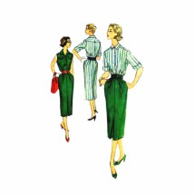 1950s Misses Blouse Skirt Simplicity 2349 Vintage Sewing Pattern Size 12 Bust 32