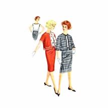 1960s Bateau Neck Blouse Skirt Jacket Simplicity 3324 Vintage Sewing Pattern Size 14 Bust 34