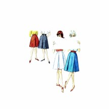 1960s Misses Pleated Flared Skirts Simplicity 4896 Vintage Sewing Pattern Waist 25 Hip 34