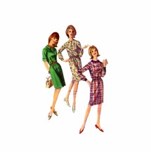 1960s Misses Shirtdress Simplicity 6079 Vintage Sewing Pattern Size 12 Bust 32