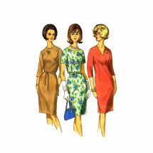 1960s Sheath Dress Simplicity 6281 Vintage Sewing Pattern Size 14 1/2 Bust 35
