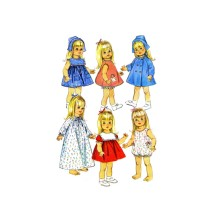 1960s Susie Sunshine Baby First Step Goody Two Shoes Doll Clothes Wardrobe Simplicity 6768 Vintage Sewing Pattern