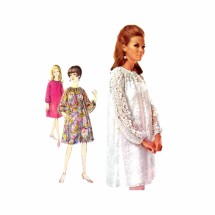 1960s Lace Cocktail Dress and Slip Simplicity 6777 Vintage Sewing Pattern Size 12 Bust 32