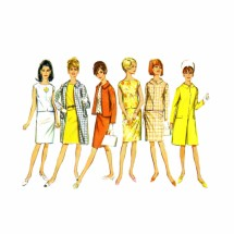 1960s Misses Coat Jacket Overblouse Skirt Simplicity 6882 Vintage Sewing Pattern Size 16 Bust 36