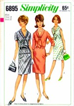 Simplicity 6895 Vintage Sewing Pattern Dress Top Skirt Size 12 Bust 32