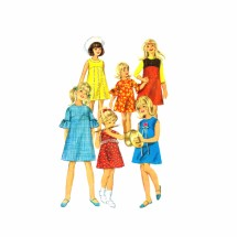 1960s Girls Empire Waist Dress or Jumper Simplicity 6903 Vintage Sewing Pattern Size 12