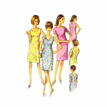1960s Misses Sheath Dress Simplicity 6954 Vintage Sewing Pattern Size 16 Bust 36