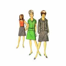 1960s Misses Blouse Jacket Skirt Suit Simplicity 6986 Vintage Sewing Pattern Size 12 Bust 32