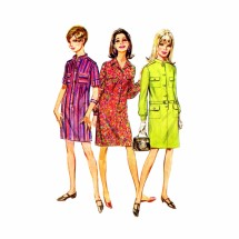 1960s Misses Step-In Dress Simplicity 7247 Vintage Sewing Pattern Size 14 Bust 34