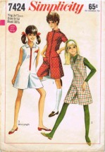 Simplicity 7424 Teens Pantdress Pantjumper Vintage Sewing Pattern Size 9/10 Bust 30 1/2