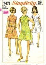 Simplicity 7471 Retro Pantdress Size 10 - Bust 32 1/2