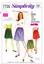 Simplicity 7735 Skirts in Two Lengths Size 12 - Waist 25 1/2