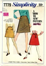 Simplicity 7779 Mini Skirt Size 10