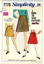 Simplicity 7779 Mini Skirt Size 10