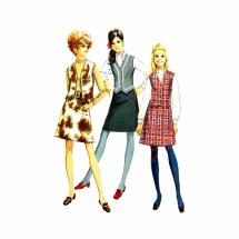 1960s Misses Blouse Skirt Vest Simplicity 7808 Vintage Sewing Pattern Size 12 Bust 34