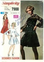 Simplicity 7900 DESIGNER FASHION Dress & Slip Size 10 - Bust 32 1/2