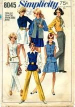 Simplicity 8045 Skirt Blouse Pants Jacket Size 12