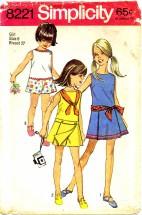 Simplicity 8221 Girls Pantdress Size 8