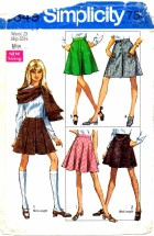 Simplicity 8349 Set of Skirts Mini Pleats Waist 23