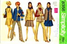 Simplicity 8356 Jacket Jumper Pants Size 12 - Bust 34