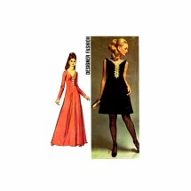 1960s Misses Princess Seam Cocktail Evening Dress Designer Fashion Simplicity 8493 Vintage Sewing Pattern Size 12 Bust 34
