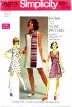 Simplicity 8613 Dress Sash Scarf Size 12 - Bust 34