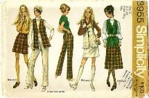 Simplicity 8955 Skirt Vest Pants Size 12 - Bust 34