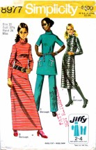 Simplicity 8977 Misses Dress Pants Vintage Sewing Pattern Size 10 Bust 32 1/2