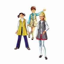1970s Girls Vest-Coat Skirt Pants Simplicity 8996 Vintage Sewing Pattern Size 12