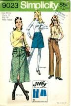Simplicity 9023 Mini or Midi Skirt & Pants Size 12 - Waist 26