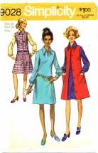 Simplicity 9028 Womens Dress & Jumper Size 12 Bust 34