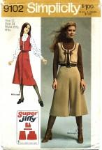 Simplicity 9102 Vest Pantskirt Skirt Size 12 - Bust 34