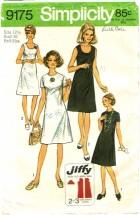 Simplicity 9175 Misses Dress Size 12 1/2 - Bust 35