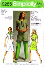Simplicity 9285 Vintage Sewing Pattern Dress Pants How To Sew Size 10 Bust 32 1/2