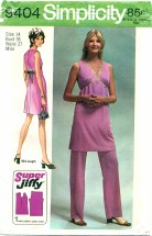 Simplicity 9404 Retro Mini-Dress & Pants Size 14 - Bust 36