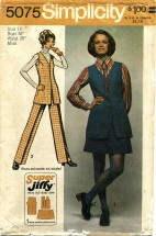 Simplicity 5075 Tunic Mini-Skirt Pants Size 16 - Bust 38