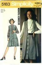 Simplicity 5183 Dress & Vest Size 12 - Bust 34