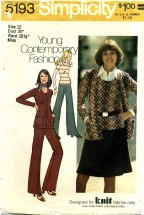 Simplicity 5193 Top Mini-Skirt Pants Jacket Size 12 - Bust 34