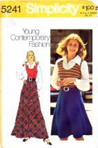 Simplicity 5241 Vintage Sewing Pattern Womens Dress Bias Skirt Size 10 Bust 32 1/2