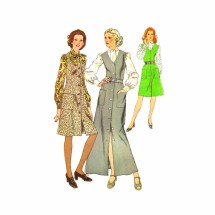 1970s Misses Jumper and Blouse Simplicity 5249 Vintage Sewing Pattern Size 12 Bust 34