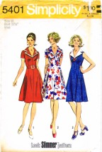 Simplicity 5401 Vintage Sewing Pattern Look Slimmer Princess Dress Size 10 Bust 32 1/2