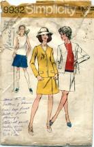 Simplicity 9932 Mini Pantdress & Cardigan Size 18 1/2